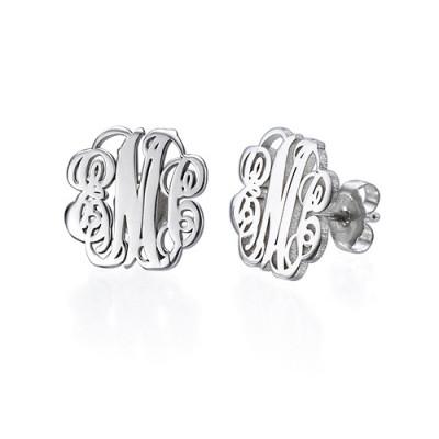 Sterling Silver Monogram Stud Earrings - The Name Jewellery™