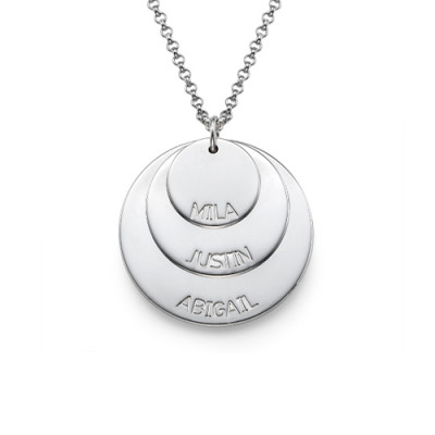 Sterling Silver Mummy Necklace with Kid's Names - The Name Jewellery™