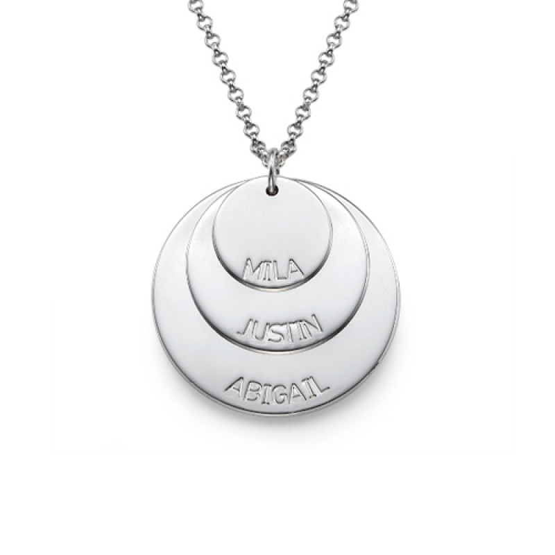01b1d0178 Sterling Silver Mummy Necklace with Kid's Names - The Name Jewellery™
