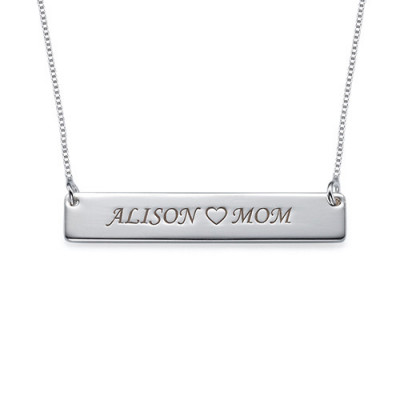 Nameplate Necklace in Sterling Silver - The Name Jewellery™