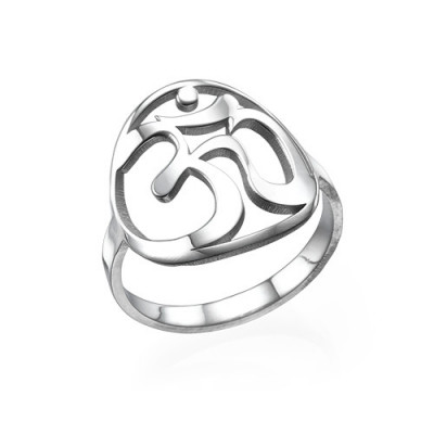 Sterling Silver Om Ring - The Name Jewellery™