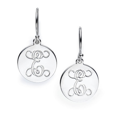 Sterling Silver Personalised Initial Earrings - The Name Jewellery™