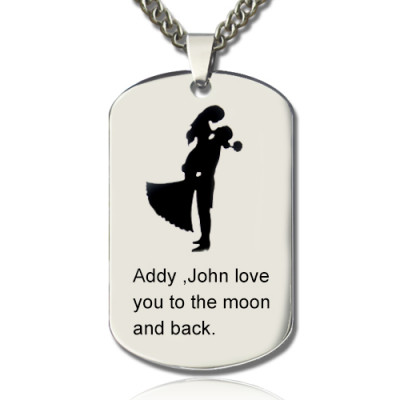 Couple Love Dog Tag Name Necklace - The Name Jewellery™