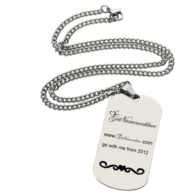Logo and Brand Design Dog Tag Necklace - The Name Jewellery™