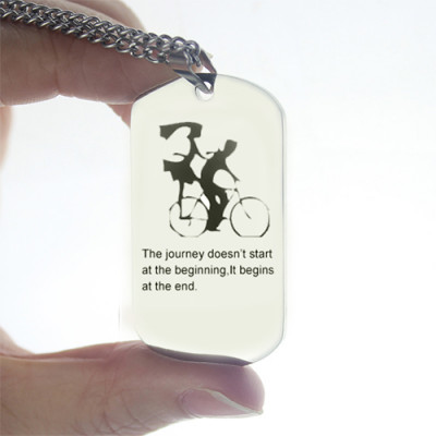 Couple Bicycle Dog Tag Name Necklace - The Name Jewellery™