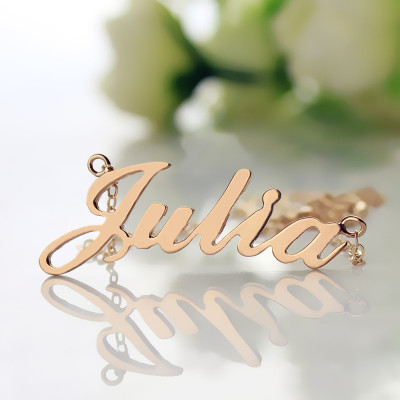 Solid Rose Gold Plated Julia Style Name Necklace - The Name Jewellery™
