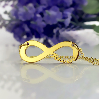 Solid Gold 18ct Infinity Name Necklace - The Name Jewellery™