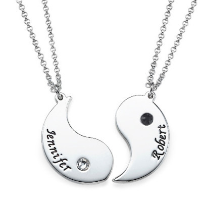 Yin Yang Necklace for Couples with Engraving - The Name Jewellery™