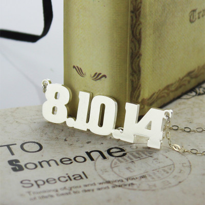 Sterling Silver Number Name Necklace Unique Men Jewellery - The Name Jewellery™