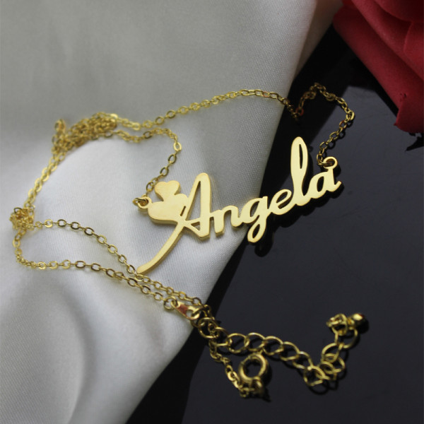 f007e8c27a7 Personalised Solid Gold Fiolex Girls Fonts Heart Name Necklace - The Name  Jewellery™