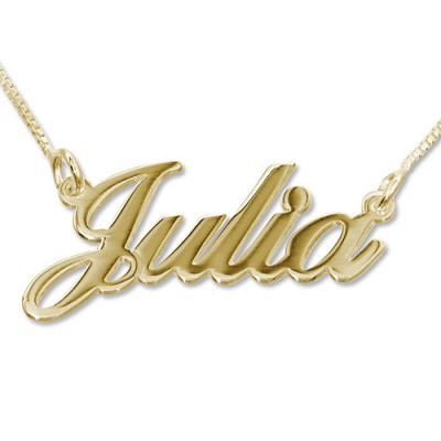 18ct Gold-Plated Silver Classic Name Necklace - The Name Jewellery™