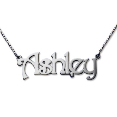 Harrington Style Sterling Silver Name Necklace - The Name Jewellery™