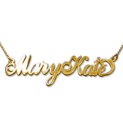 2 Capital Letters 18ct Gold Name Necklace - The Name Jewellery™