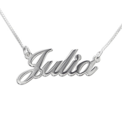 Small Personalised Classic Name Necklace In Silver/Gold/Rose Gold - The Name Jewellery™