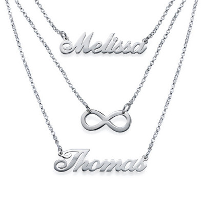 Layered Name Necklace in Sterling Silver - The Name Jewellery™