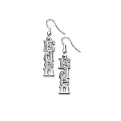 Sterling Silver Name Earrings - The Name Jewellery™