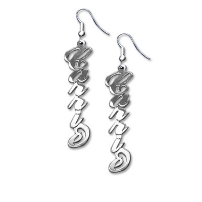 """Sterling Silver """"Carrie"""" Style Name Earrings - The Name Jewellery™"""