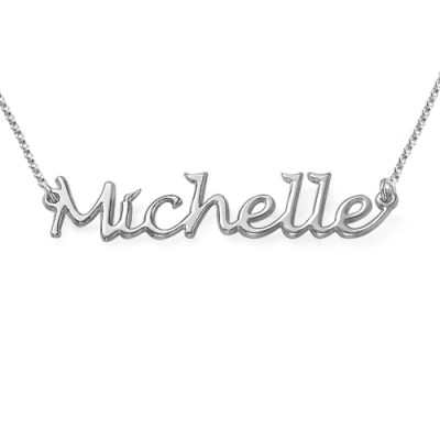 Silver Handwritten Name Necklace - The Name Jewellery™
