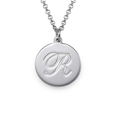 Sterling Silver Initial Script Pendant - The Name Jewellery™