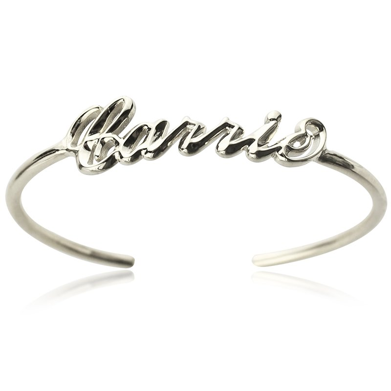 b9d1ea7a5f5 Personalised Sterling Silver Name Bangle Bracelet - The Name Jewellery™