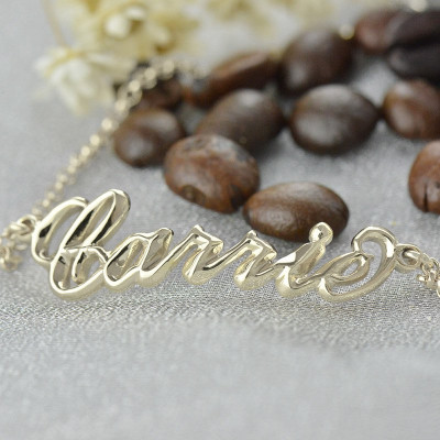 Sterling Silver Women's Name Bracelet  Carrie Style - The Name Jewellery™