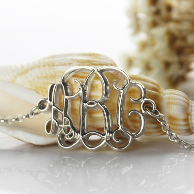 Celebrity Monogram Initial Bracelet Sterling Silver - The Name Jewellery™