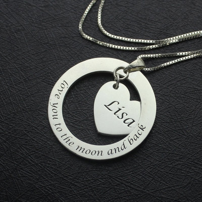 Custom Promise Necklace with Name  Phrase Sterling Silver - The Name Jewellery™