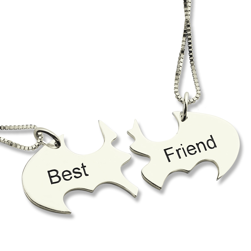 Batman Best Friend Name Necklace Sterling Silver - The Name Jewellery™ 6f7bb4cd1