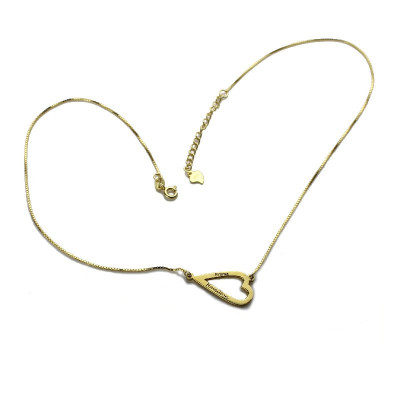 Open Heart Love Necklace  Bracelet Engraved Name - The Name Jewellery™