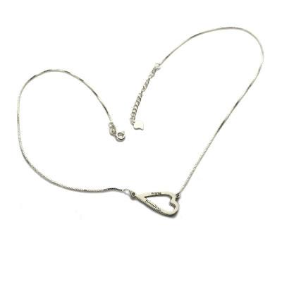 Love Jewellery Set- Open Heart Name Necklace  Bracelet - The Name Jewellery™