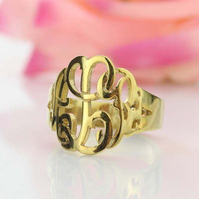Personalised Hand Drawing Monogrammed Ring Gifts - The Name Jewellery™