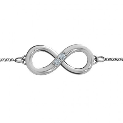 Personalised Twosome  Infinity Bracelet - The Name Jewellery™