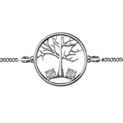 Personalised 1 - 4 Stone Family Tree Bracelet - The Name Jewellery™