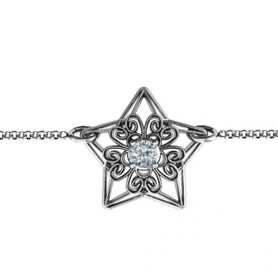 Personalised 3D Star Bracelet with Filigree Detailing - The Name Jewellery™