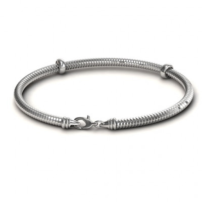 Personalised Silver Snake Bracelet - The Name Jewellery™