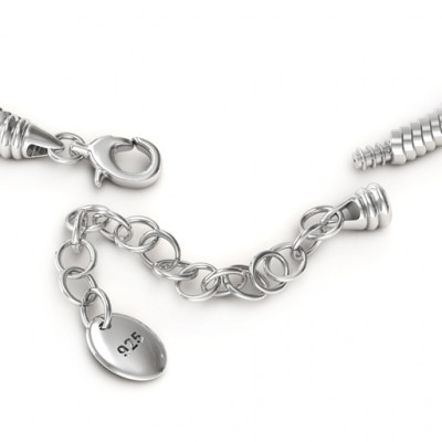 Personalised Silver Snake Bracelet with 1.5  Extender - The Name Jewellery™