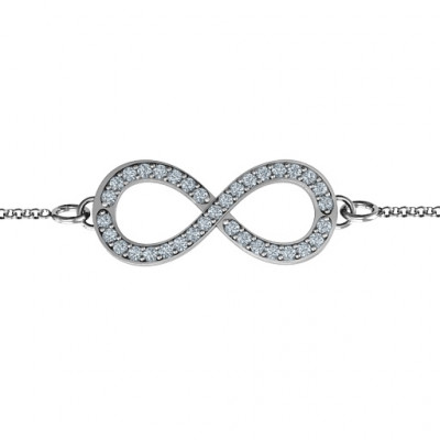 Personalised Accented Infinity Bracelet - The Name Jewellery™