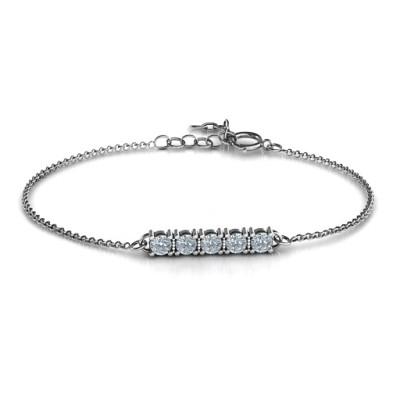 Personalised Classic 5 Birthstone Bracelet - The Name Jewellery™