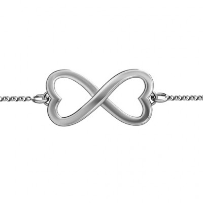 Personalised Double Heart Infinity Bracelet - The Name Jewellery™
