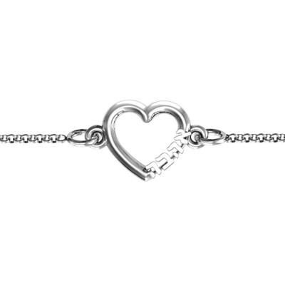 Personalised Heart 'Ahava' Bracelet - The Name Jewellery™