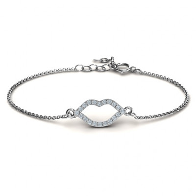 Personalised Lustrous Lips Bracelet - The Name Jewellery™