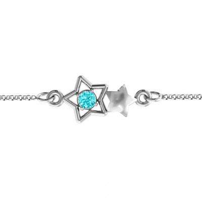 Personalised Me and My Shadow Star Bracelet - The Name Jewellery™
