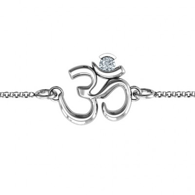 Om - Sound of Universe Bracelet with Round Stone - The Name Jewellery™