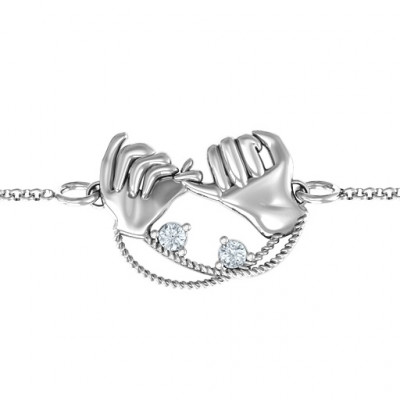 Personalised Pinky Swear Promise Bracelet - The Name Jewellery™