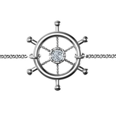 Personalised Ship's Wheel Bracelet - The Name Jewellery™