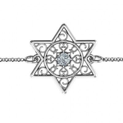 Personalised Star of David with Filigree Bracelet - The Name Jewellery™