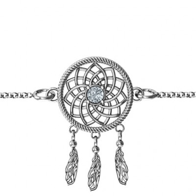 Personalised Sterling Silver Dream Catcher Bracelet - The Name Jewellery™