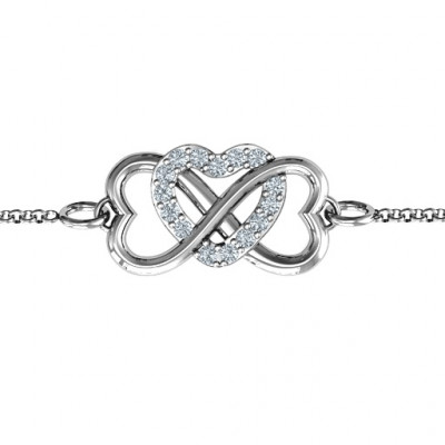 Personalised Triple Heart Infinity Bracelet - The Name Jewellery™