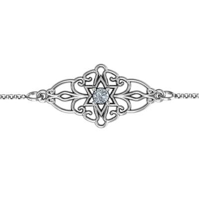 Personalised Vintage Star of David Bracelet - The Name Jewellery™