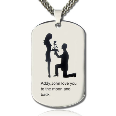 Marriage Proposal Dog Tag Name Necklace - The Name Jewellery™